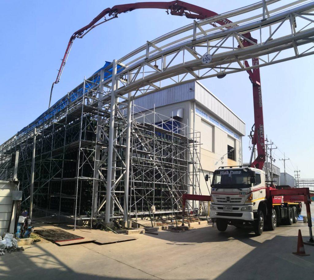 โครงสร้างคอนกรีตเสริมเหล็กWaste Water Treatment