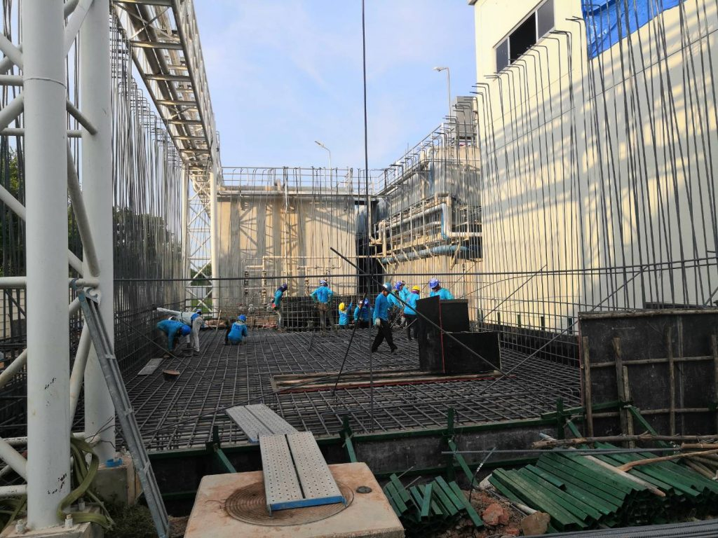 โครงสร้างคอนกรีตเสริมเหล็ก Waste Water Treatment